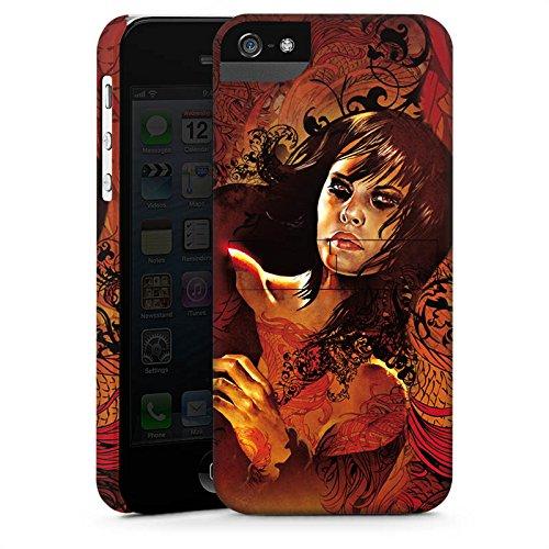 Apple iPhone X Silikon Hülle Case Schutzhülle Frau Gesicht Drache Premium Case StandUp
