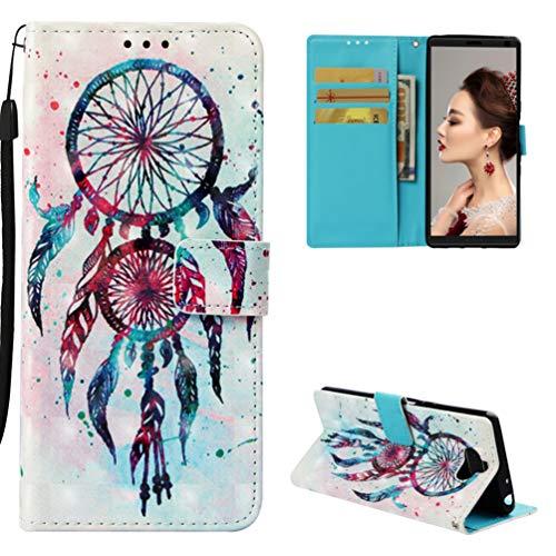 Edauto Hülle Handyhülle Kompatibel mit Sony Xperia 10 Schutzhülle Wallet Flip Case PU Leder Case Skin Brieftasche Ledertasche Tasche Bookstyle Handycover Twin - Wallet Skin Case