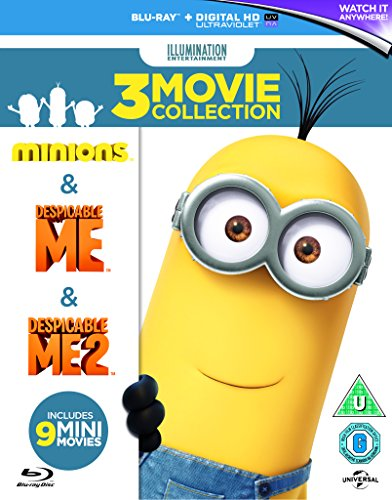 Gru + Gru 2 + Los Minions en Blu-Ray y castellano