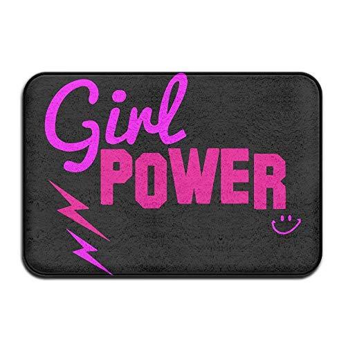 """suzhouxiu Girl Power Non-Slip Outside/Inside Door Mat Rug For Health and Wellness Toilet Bathroom Doormat 23.6""""x 15.7"""""""