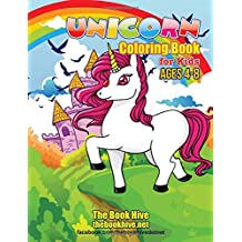 Unicorn Coloring Books for Kids Ages 4-8: Unicorn Fun Coloring Book for Kids Boys Girls Toddlers Ages 4 5 6 7 8 (Relaxation Coloring Book for Kids Children Activity Books Paint Books)