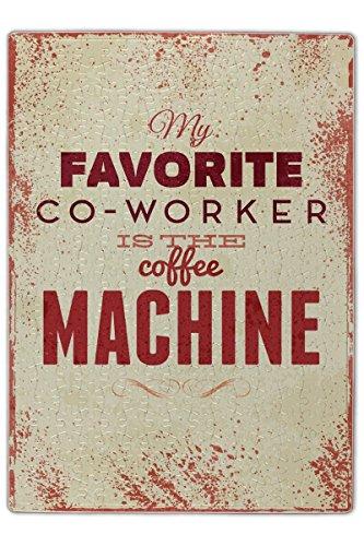 LEotiE SINCE 2004 Puzzle Kaffee Cafe Bar Kaffemaschine Bedruckt 120 Teile