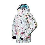 HXFFLYLY Femme Veste de Ski Veste Imperméable Femme, Coupe-Vent Ski Veste Chaude avec Capuche, Imperméable Respirant Vêtement De Sport Softshell Veste d'alpinisme,M