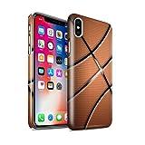 Stuff4® Glanz Snap-On Hülle/Case für Apple iPhone X/10 / Basketball Muster/Sport Bälle/Ball Kollektion