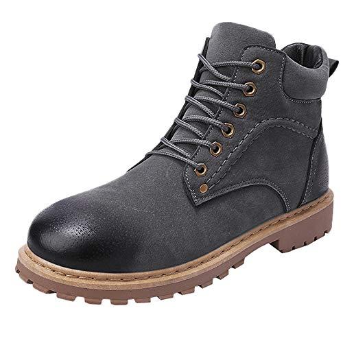 Manadlian Boots Schuhe Herren Beiläufig Männer Draussen Warm halten Werkzeugschuhe Tragen Sie beständig Hochgeschnittene Turnschuhe