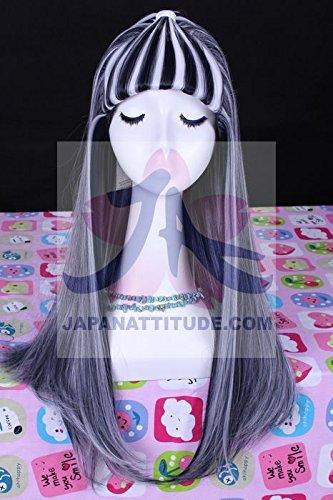 Perücke, schwarz/weiß, 60 cm, cosplay monster high Rucksack frankie (High Fashion Perücke)