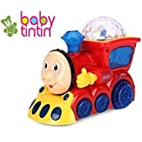Babytintin Yijun Bump and Go Musical Engine Train with 4D Light and Sound Toy for Kids