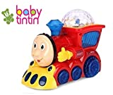 #3: Babytintin Yijun Bump and Go Musical Engine Train with 4D Light and Sound Toy for Kids