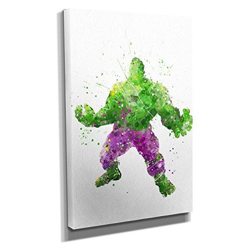 Roaring Hero Splash - Kunstdruck auf Leinwand (30x45 cm) zum Verschönern Ihrer Wohnung....