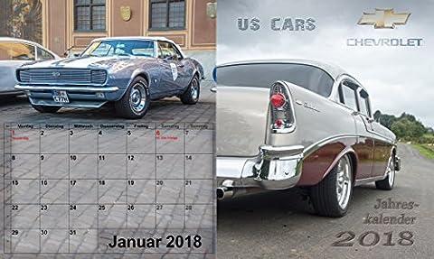großer US Car Chevrolet Kalender Chevy V8 Klassiker Jahreskalender 2018,