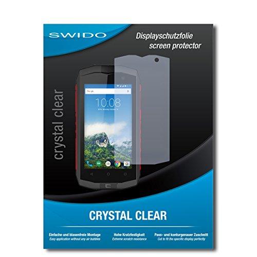 SWIDO Bildschirmschutz für Crosscall Trekker-M1 Core [4 Stück] Kristall-Klar, Hoher Härtegrad, Schutz vor Öl, Staub & Kratzer/Schutzfolie, Bildschirmschutzfolie, Panzerglas Folie