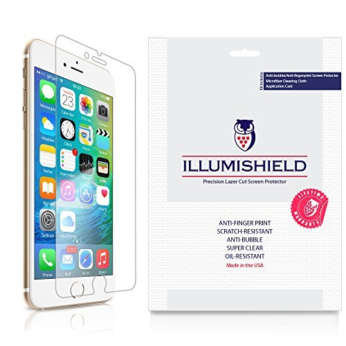 iLLumiShield - Apple iPhone 6S Plus 5.5 Screen Protector with Lifetime Replacement Warranty - Ultra Clear HD Film with Anti-Bubble and Anti-Fingerprint - High Quality Invisible LCD Shield - [3-Pack]