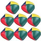 Vidillo Palle da Giocoleria,Il Set Complete da giocoliere Composto da 8 Palle con Video Tutorial Online in Sacco di Juta Beige,Soft Classic Juggle Balls Beanbags per Bambini e Adulti