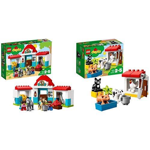 LEGO Duplo 10868 - Pferdestall, Spielzeug für das Kindergartenalter &  Duplo 10870 - Tiere auf dem Bauernhof, Lernspielzeug