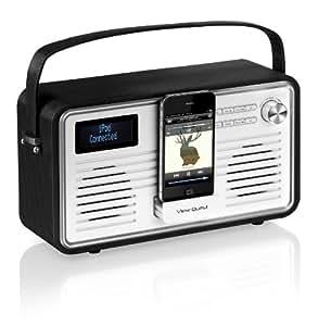 View Quest RETROWF-BK/C Retro Internet Radio (Wifi, DAB, DAB+ and FM) with iPhone and iPod Speaker - Black/Cream