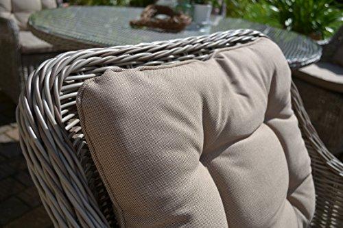 """Gartenmöbel Set Como""""XL""""-8 Tisch ausziehbar (205/260) Holzdekor mit 8 Sessel Rattan Polyrattan Geflecht - 9"""
