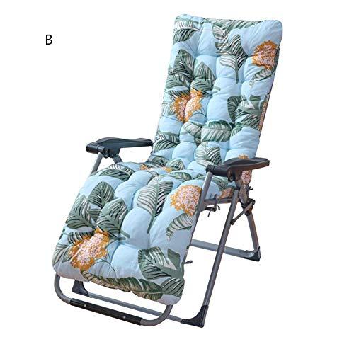 BAODANH Liegekissen, Gartenmöbelkissen - tragbare Gartenterrasse Dicke gepolsterte Liege Relaxer Stuhl Sitzbezug für Reisen/Urlaub/Indoor/Outdoor