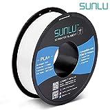SUNLU PLA Plus 3D Filament 1.75mm for 3D Printer & 3D Pens, 1KG (2.2LBS) PLA+ Filament Tolerance Accuracy +/- 0.02 mm, White