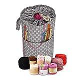 Dream-cool Aufbewahrungstasche für Wolle und Nadeln, robust, tragbar, zum Aufbewahren von Häkelnadeln und Garn S