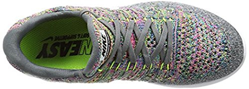 Nike Mens LunarEpic Low Flyknit 2 Running Shoe COOL GREY/WHITE-VOLT-BLUE  GLOW 12.0