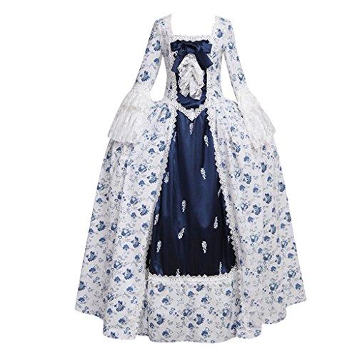Cosplayitem Renaissance Rokoko Viktorianischen Kleid Mittelalterlichen Kleid Blumen Kleid Kostüm