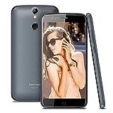Vernee Thor Smartphone Ohne Vertrag, Android 7.0 OS, Dual SIM Dual Standby, 4G Handy, mit 5 Zoll HD Bildschirm, 3GB RAM, 16GB ROM, 2800 mAh Akku, MTK6753 Octa-Core, Fingerabdruck Entsperren(Grau)
