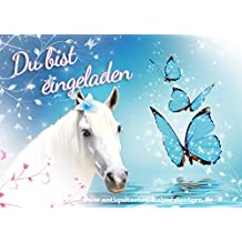 10 Einladungskarten Zum Kindergeburtstag   Pferd   Schmetterling   Mädchen    Party   Geburtstag 7