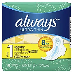 Always Ultra Thin Pads Feminine Hygiene Products Case Pack 12