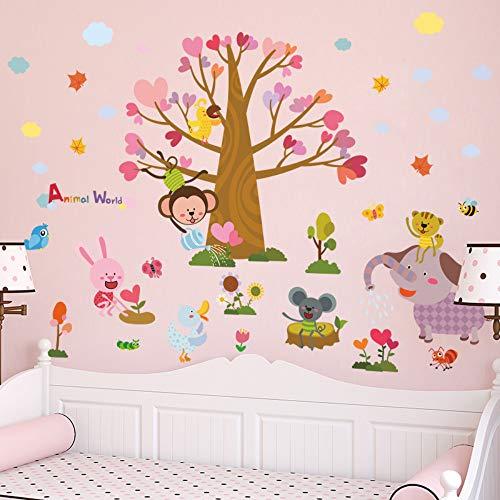 (Diy Tier Baum Elefant Affe Biene Kind Wand Aufkleber Kinderzimmer Baby Schlafzimmer Vinyl Aufkleber)