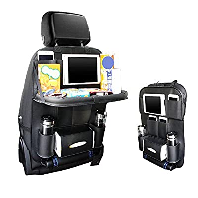 Car Seat Organizer, Pushingbest Car Back Seat Organizer Foldable Car Dining Table iPad Bottles Tablet Holder, 1pc - low-cost UK light store.