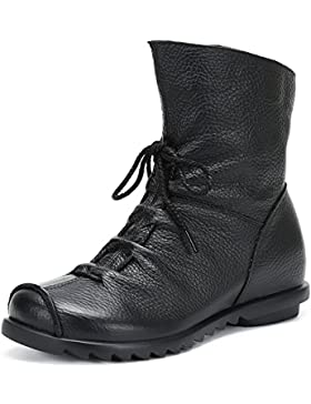 SAGUARO® Autunno Inverno Donne Stivali All'aperto Neve Peluche Boots Caldo Pelle Stivaletto Antiscivolo scarponi...