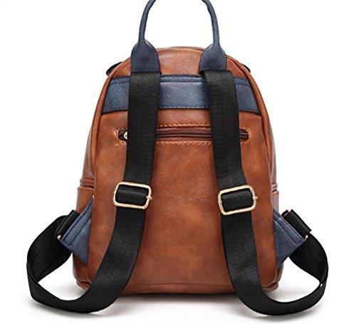 SHFANG Student Double Schultertasche Mobile Travel Shopping Zauber Farbe Zipper Vier Farben 24 * 12 * 25cm , green brown