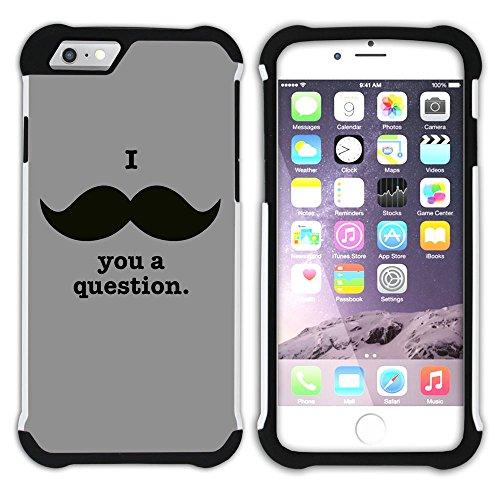 Graphic4You Mustache Schnurrbart Lustig Design Hart + Weiche Kratzfeste Hülle Case Schale Tasche Schutzhülle für Apple iPhone 6 / 6S Design #2