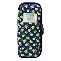 AiSi Pencil Case Floral Pattern Multifunction Pouch Stationery Box Large Capacity Waterproof-Darkcyan