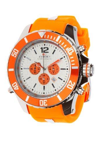 Kyboe. Automatik Uhr Unisex Orange 55MM