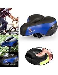 Gel de Silicona Gruesa y Suave de Silla del Bicicleta Transpirable y Cómodapara, Negro y Azul