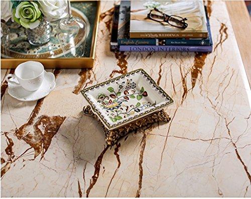 wysm retrò rettangolari posacenere in ceramica decalcomanie posacenere crepa decorazione domestica europee