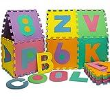 Puzzle Tapis Mousse Bebe Alphabet Et Chiffres 86 Pieces 36 Dalles