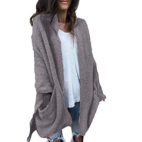 Preisvergleich Produktbild Luckycat Damen warme künstliche Tasche Wollmantel Jacke Revers Winter Oberbekleidung Jacken Mäntel Sweatjacke Winterjacke Fleecejacke Steppjacke