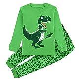 Mombebe Baby Junge Dinosaurier Schlafanzug Set Weihnachtsmann Pyjama (Dinosaurier 3, 4 Jahre)