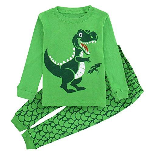 Dinosaurier Pyjamas Pjs (Mombebe Baby Junge Dinosaurier Schlafanzug Set Weihnachtsmann Pyjama (Dinosaurier 3, 3 Jahre))