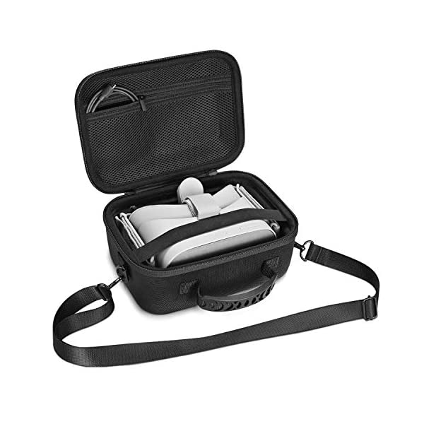 kupton oculus go case, hard eva travel storage protective carrying case for oculus go standalone virtual reality headset - 32gb/64 gb, controllers & other accessories Kupton Oculus Go Case, Hard EVA Travel Storage Protective Carrying Case for Oculus Go Standalone Virtual Reality Headset – 32GB/64 GB, Controllers & Other Accessories 51vm42wfzLL
