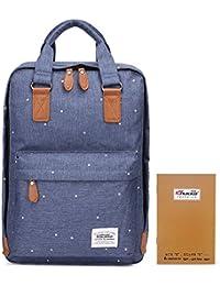 Kaukko portátil ordenador hombros de la mochila del bolso elegante de la Escuela Azul