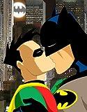 Batman et Robin Gay Kiss 'Gay sur Gotham'Poster brillant Taille XXL ****Livraison le jour même!