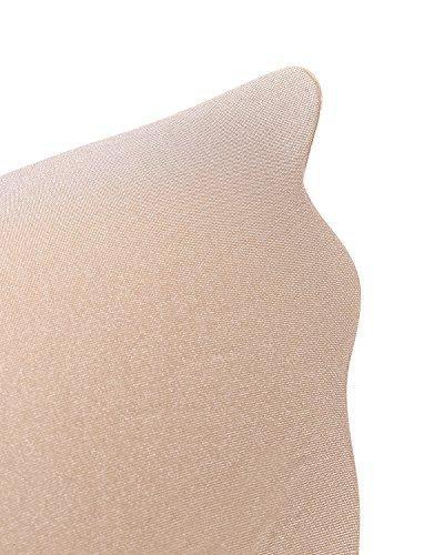 KissLace Trägerloser Demi-BH unsichtbar BHs Silikon Nackt Selbstklebendem Push-Up Klebe-BH für Abendkleider Ballkleider Brautkleider Beige