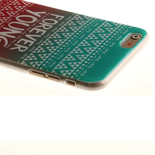 iPhone 6S Plus Coque, iPhone 6 Plus Coque, Lifeturt [ Galaxie ] [Ultra Mince] Silicone TPU Souple Case Cas de Couveture Coque Integral Protection Anti Rayure Anti Choc Résistante Fashion pour Apple iP E02-Forever Young