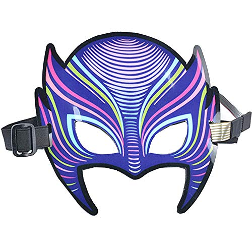 Gras Queen Mardi Erwachsene Für Kostüm - LED Musik Maske, Sound Control Maske, für Halloween Kostüme Cosplay Party und jedes Festival, Best Light Up Flashing Toys (Fox)