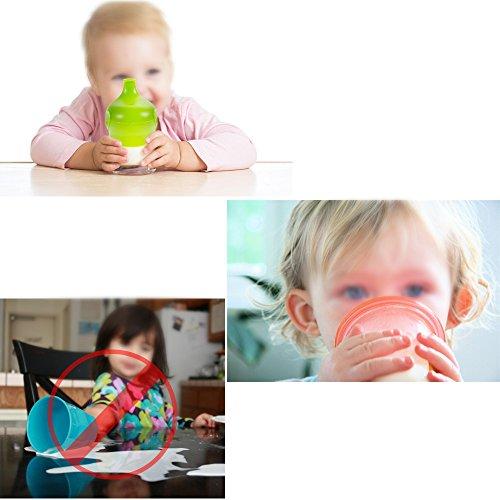 Nabance BPA Frei Baby Spill Proof Sippy Cup Deckel Ersatz Sippy Deckel - 6