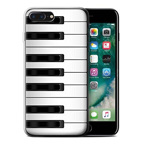 Stuff4 Gel TPU Hülle / Case für Apple iPhone 7 Plus / Tastatur Muster / Schaltfläche/Tasten Kollektion Klavier/Piano