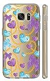 Samsung Galaxy S5 Mini G800 Softcase Cover Backkover TPU Schutzhülle Slim Case (2304 Herzen Lila Türkis)